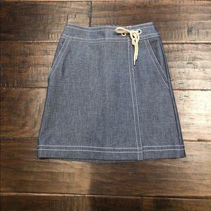 Women's Ann Taylor Chambray Skirt Size O Petite.